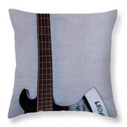 Gene Simmons Hatchet Bass Guitar Throw Pillow