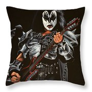Gene Simmons Of Kiss Throw Pillow