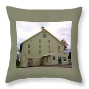 General And President Dwight D. Eisenhower Old Barn Throw Pillow