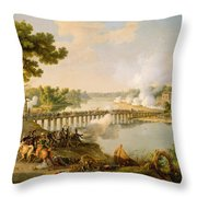 General Bonaparte Giving Orders At The Battle Of Lodi Throw Pillow