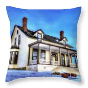 General Custer House Throw Pillow