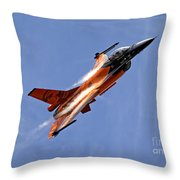General Dynamics F-16am Fighting Falcon Throw Pillow