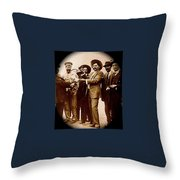 General Fierro With Chicken And Villa Unknown Location Or Date-2013 Throw Pillow