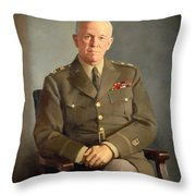 General George C Marshall Throw Pillow
