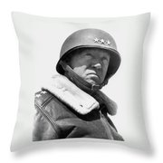 General George Patton Throw Pillow by War Is Hell Store