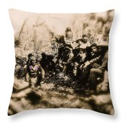 General George R. Crook Negotiating With Geronimo  1886-2008 Throw Pillow