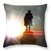General In Sunrise Flares Throw Pillow