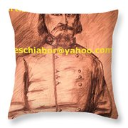 General Pickett Confederate  Throw Pillow