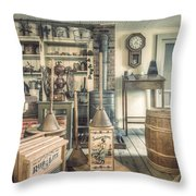 General Store - 19th Century Seaport Village Throw Pillow