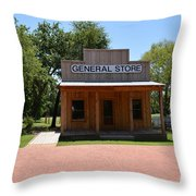 General Store At Historical Park Throw Pillow