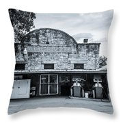General Store In Independence Texas Bw Throw Pillow
