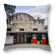 General Store In Independence Texas Throw Pillow