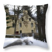 General Wayne Inn In Winter Throw Pillow