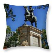 General Winfield Scott Hancock Statue - Washington Dc Throw Pillow