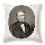 General Zachary Taylor, From The History Of The United States, Vol. II, By Charles Mackay, Engraved Throw Pillow