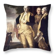 Generals At Yorktown, 1781 Throw Pillow