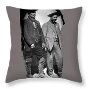 Generals Fierro And Villa Unknown Location 1913 -2013 Throw Pillow