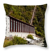 Generator House Of Hydro-electric Power Plant Throw Pillow