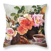 Generous Blooming Throw Pillow