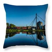 Genesee Mill Throw Pillow by Randy Scherkenbach