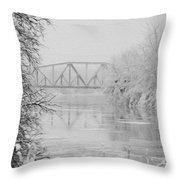 Genesee River Throw Pillow