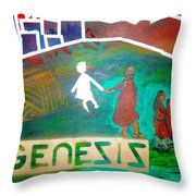 Genesis  By Janelle Dey Throw Pillow