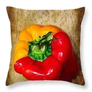 Genetically Modified Capsicum Throw Pillow