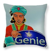 Genie Neon Sign Throw Pillow