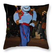 Genie With Moves Throw Pillow