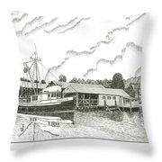 Genius Ready To Fish Gig Harbor Throw Pillow by Jack Pumphrey