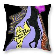 Geniusssses Throw Pillow