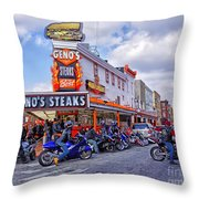 Geno's 3 Throw Pillow by Jack Paolini
