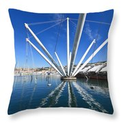 Genova - Porto Antico Throw Pillow
