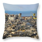 Genova. Panoramic View Throw Pillow