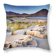 Genoveses Beach At Sunset Throw Pillow