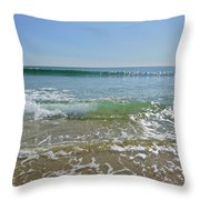 Gentle August Sea Throw Pillow