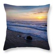 Gentle Evening Waves Throw Pillow
