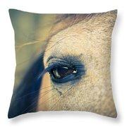 Gentle Eye Throw Pillow by Priya Ghose