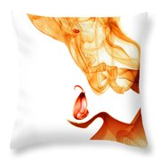 Gentle Giant Smoke Photography Throw Pillow