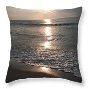 Ocean - Gentle Morning Waves Throw Pillow