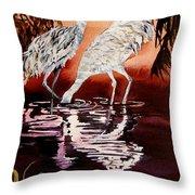 Gentle Sandhills Throw Pillow