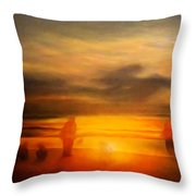Gentle Sunset Vision Throw Pillow