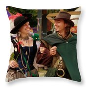 Gentleman And His Lady Throw Pillow