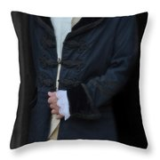 Gentleman In 18th Century Clothing Throw Pillow