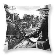 Gentleman Rider Throw Pillow