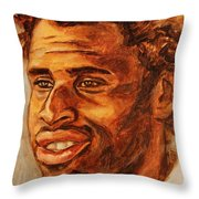 Gentleman With Goatee Throw Pillow