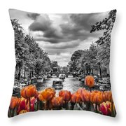 Gentlemen's Canal  Amsterdam Throw Pillow