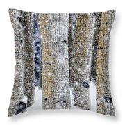 Gently Falling Forest Snow Throw Pillow