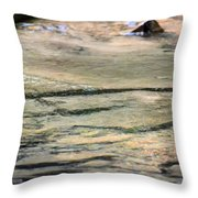 Gently Gliding Water Abstract Throw Pillow