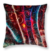Gently Waving Throw Pillow